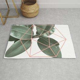 Geometric greenery Rug