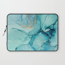 Abstract Turquoise Art Print By LandSartprints Laptop Sleeve