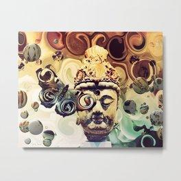 Buddha Swirl Metal Print