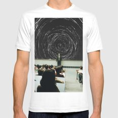 study White SMALL Mens Fitted Tee