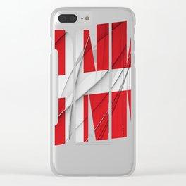 DNK---Danmark-Flag Clear iPhone Case