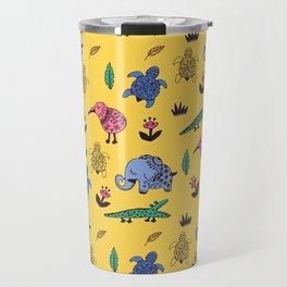 Cute Wild Animals Pattern Travel Mug