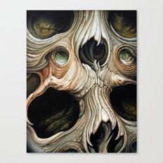 skull melt Canvas Print