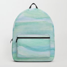 Blue Green Watercolor Layers Backpack