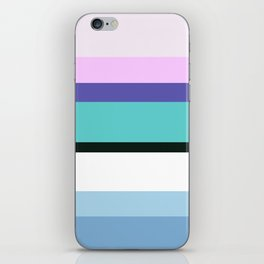 Mermaid inspired stripe iPhone Skin
