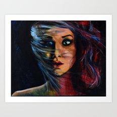 Gurl. Interuppted.  Art Print