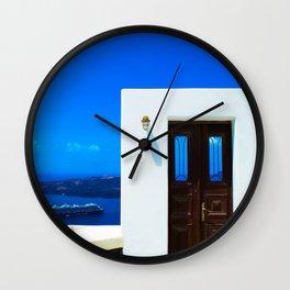 Door in the paradise Wall Clock