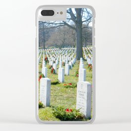 Arlington national cemetery photography Clear iPhone Case