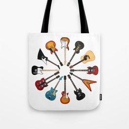 Guitar Circle Tote Bag