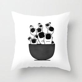 Cactoe Throw Pillow