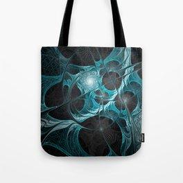 Turquoise Fractal Tote Bag