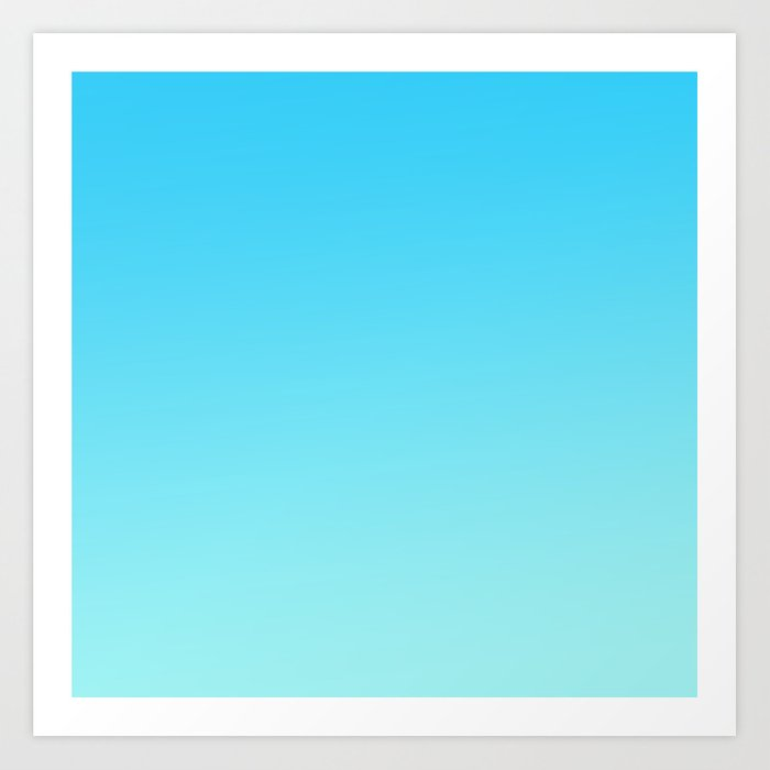 Simply Sea Blue Teal Color Grant Mix And Match With Simplicity Of Life Art Print