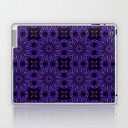 Purple Blue Floral Design Laptop & iPad Skin