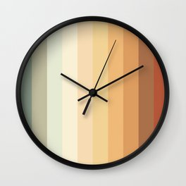 Sunset on the ocean Wall Clock