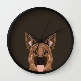 Skylar - German Shepherd gifts for dog people dog lover gifts german shepherd owners perfect gifts  Wall Clock