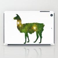 llama iPad Cases featuring Llama by Lucas de Souza
