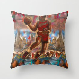 Air Vs. Erbody Throw Pillow