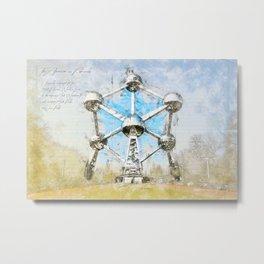Atomium Brussels, Belgium Metal Print