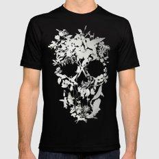 Simple Skull Black X-LARGE Mens Fitted Tee