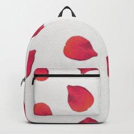 Red Rose Petals Backpack