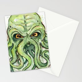 Cthulhu HP Lovecraft Green Monster Tentacles Stationery Cards