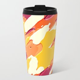 red pink yellow and orange camouflage graffiti painting background Travel Mug