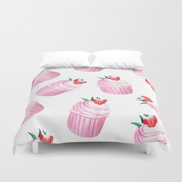 Strawberry Cupcakes Duvet Cover