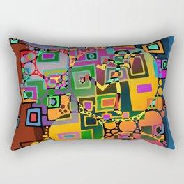Cubism Modern Art - Dancing In The City 1 Rectangular Pillow