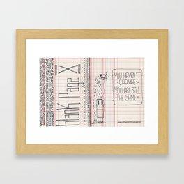 Blank page Framed Art Print