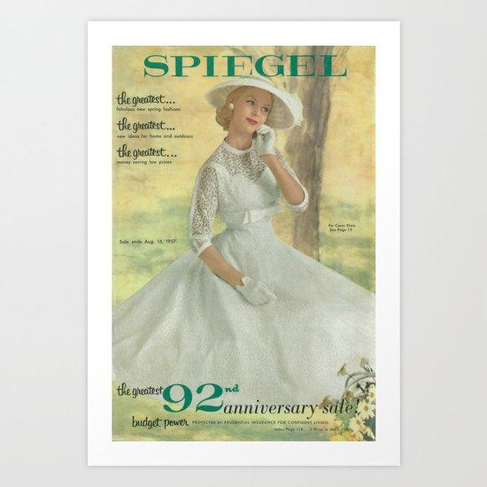 1957 Spring/Summer Catalog Cover Art Print