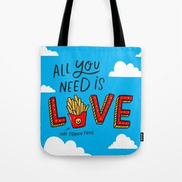Love and French Fries Tote Bag