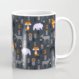 Wild foxes, deer, bears and flowers Coffee Mug