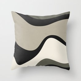 BSTRACT WAVES - GREEN Throw Pillow