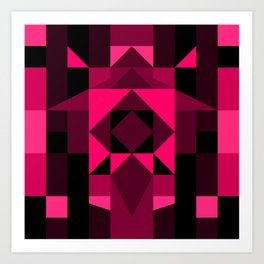 Hot Pink Zentangle Art Print