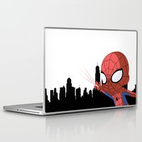 chibi Laptop & iPad Skins featuring Chibi Spider by Nozubozu
