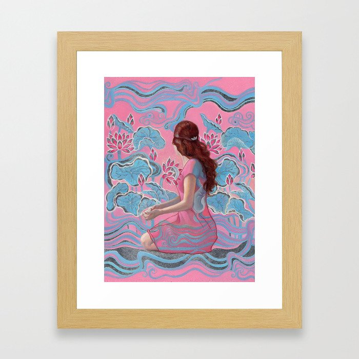 Invisible: where joy blooms Framed Art Print