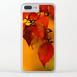 VIVID AUTUMNAL LEAVES Clear iPhone Case