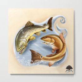 Trout and Redfish  Metal Print