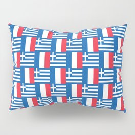 Mix of flag: France and greece Pillow Sham