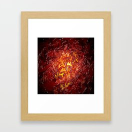 The Fire within..... Framed Art Print