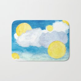 Clouds and Suns Bath Mat