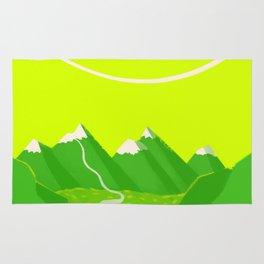 Minimalist Mountains Rug