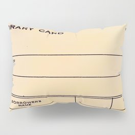Library Card BSS 28 Pillow Sham