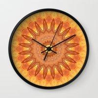 regina mills Wall Clocks featuring Regina by Mr. Pattern Man