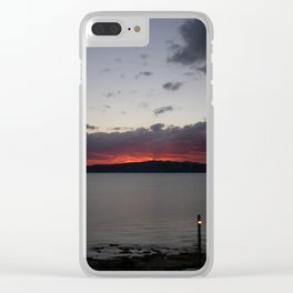 Sunset Over Taupo Clear iPhone Case