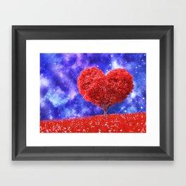 Cosmic love tree Framed Art Print