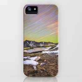 Loveland pass star trails iPhone Case