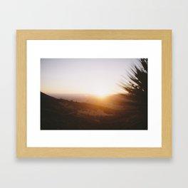 Angels National Forest, sunset no.14 Framed Art Print