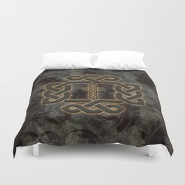 Decorative celtic knot, vintage design Duvet Cover