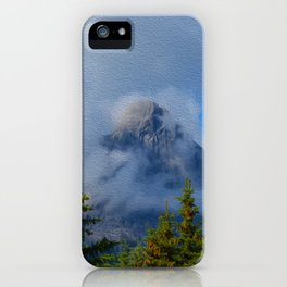 Ha Ling Mountain Peak, Canmore, Canada iPhone Case